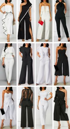 White Jumpsuits & Black Jumpsuits Sale Up To Jumpsuits Elegant To Update You Wardrobe Now - Summer Fashion New TrendsNot all of these but definitely feeling some.Get the latest fashion trends, news and runway reports with looks each week. New Mode, Casual Outfits, Cute Outfits, Womens Fashion, Fashion Trends, Trending Fashion, Fashion Fashion, African Fashion, Dress To Impress