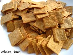 Home Cooking In Montana: Homemade Wheat Thin Crackers. Yummy Snacks, Yummy Food, Healthy Snacks, Healthy Eating, Appetizer Recipes, Snack Recipes, Appetizers, Table D Hote, Wheat Thins