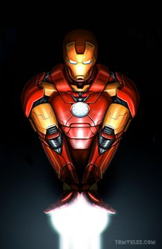 "league-of-extraordinarycomics: ""Iron Man by Tom Velez """