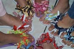 decorate flip flops  This is going  to be so much fun with the girls!