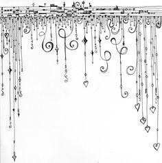 Journal Art Inspiration: Dangles   #journaling #journalartinspiration