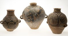 3 Chinese Painted Pottery Jars