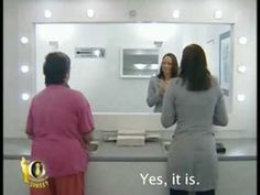 http://www.youtube.com/watch?v=H_Dtsx-VGG0&NR=1&feature=endscreen  Mirror prank, pretty funny! The box blocking the mirror disappears in just a minute.