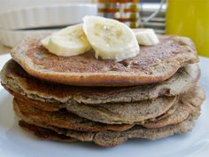 Gluten Free Vegan Banana Maple Cinnamon Pancakes. Looking for quick easy gluten free vegan pancakes? These banana maple cinnamon pancakes are easy and delicious.