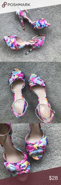 Nina Peep Toe You'll want to kick up your heels in these beauties! These shoes are NWOT and have never been worn (don't think I even tried them on). Add a pop of color to that LBD! Nina Shoes Heels
