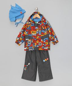 Take a look at this Castle Rock Letter Raincoat Set - Infant & Toddler by Gagou Tagou on #zulily today!