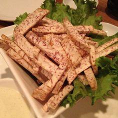 shine restaurant : taro root frites.