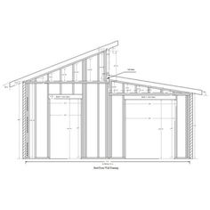 Workshop Shed Design Plans and PICS of Industrial Shed Construction Cost. Shed Roof Design, Shed Design Plans, Wood Shed Plans, The Plan, How To Plan, Flat Roof Shed, Diy Storage Shed Plans, Workshop Shed, Espace Design
