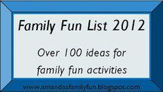 Food, Family, Fun.: Family Fun List for 2012