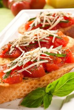 Bruchetta....A yummy Italian treat with your your meal.