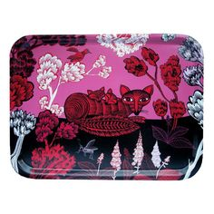 pink and red fox tray (Lush Designs and Ary Trays) via design*sponge