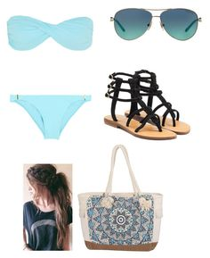 """""""Beach Day"""" by kristenbreannn on Polyvore featuring Melissa Odabash, Mystique, Billabong and Tiffany & Co."""
