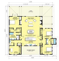 Farmhouse Style House Plan - 3 Beds 2.5 Baths 2168 Sq/Ft Plan #888-7 Floor Plan - Main Floor Plan - Houseplans.com