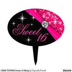 CAKE TOPPER Sweet 16 Bling