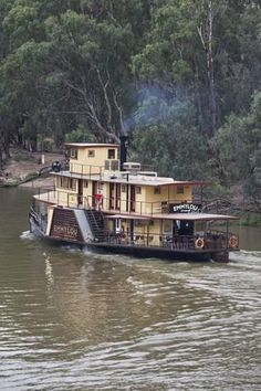 The Boathouse: a new definition to lakefront living! Houseboat Living, Houseboat Ideas, Murray River, Steam Boats, Boat Names, Lakefront Property, Boat Lift, Floating House, Tug Boats