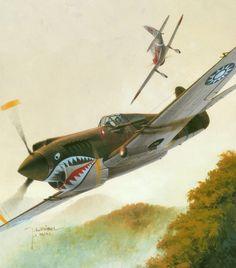 P-40B 'Flying Tigers' by Jaroslaw Wróbel
