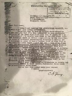 Carl Jung Depth Psychology: Carl Jung's Letter on Astrology