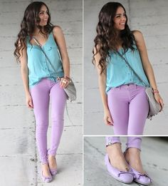Pastel color-blocking! (by Daniela Ramirez) http://lookbook.nu/look/3198923-Pastel-color-blocking