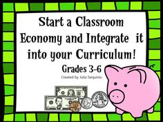 Use this Classroom Economy Starter Kit to teach about economics and bring a little fun into learning!