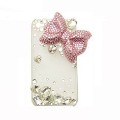 Handmade hard case for Samsung Infuse 4G: Bling pink bow (customized are welcome). $19.99, via Etsy.