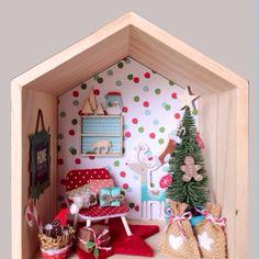 A3 Red Brick Camilla Bond en relieve casa de muñecas en miniatura