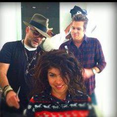 Mark McGrath is giving me haircutting tips  Haircut by Shai Hair Artist / Curl Doctor www.CapellaSalon.com www.twitter.com/ShaiAmiel www.Facebook.com/CapellaSalonLA