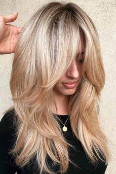 50 Cute and Effortless Long Layered Haircuts with Bangs Long layered hairstyles ., # Hairstyles with bangs 50 Cute and Effortless Long Layered Haircuts with Bangs Long layered hairstyles . Long Haircuts With Bangs, Layered Haircuts With Bangs, Layered Hairstyles, Haircut Layers, Haircut Long Hair, Long Hairstyles With Layers, Cute Long Haircuts, Hairstyles Haircuts, Midlength Layered Hair