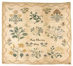 Philadelphia Museum of Art - Collections Object : Amy Hartley, 1804 Sampler