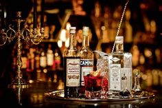 HONG KONG Il Milione's bar specializes in vintage cocktails like the Negroni
