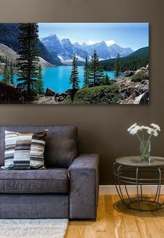 If I can't take a vacation to go and enjoy these views, then having this gorgeous print hanging on my wall is the next best thing. And the color of that lake is just to die for!