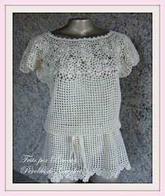 * Pérolas do Crochet: Blusa de croche - modelo exclusivo