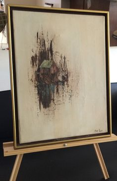 """Mary Payne Original Oil on Canvas 12"""" x 16"""" framed Untitled Signed by the Artist 20% HOLIDAY DISCOUNT by USANOW on Etsy"""