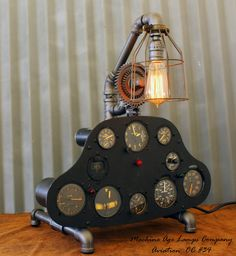Vintage World War II Era or before Aircraft  Instrument Control Panel Lamp CC #34