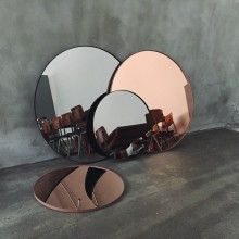 AYTM Circum Round Wall Mirror ROSE COPPER --- Please email support@designstuff.com to PRE-ORDEROur bestselling Circum Round Wall Mirror by AYTM of Denmark is a stunning design feature. Made from powder-coated steel, the frame is very fine, yet strong (approximately 2mm thick) giving the mirror a highly sophisticated look and feel. Designed in Copenhagen, it is available in two sizes: Medium Diameter 70 x H 2 cm - $425Large Diameter 110 x H 2 cm - $695Material: Mirror, wood, powder-coated…