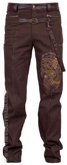 Men's Steampunk pants and trousers inspired by the Victorian era. Steampunk style cargo pants, knickers and plus fours too. Steampunk fashion for guys. Steampunk Pants, Style Steampunk, Steampunk Men, Steampunk Cosplay, Steampunk Clothing, Steampunk Fashion, Steampunk Outfits, Casual Steampunk, Steampunk Couture