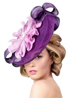 A donation of 12% of purchase will be made to the Churchill Downs Charity Foundation when website offer is mentioned. View additional designs at www.formemillinery.com. Fancy Hats, Cute Hats, Types Of Hats, Classic Hats, Diva Design, Stylish Hats, Love Hat, Red Hats, Women's Hats