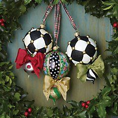 DIY ~MacKenzie-Childs ornaments @Kyle Cave