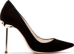 Designer heels for Women Designer Heels, Sophia Webster, Suede Pumps, Pedi, Black Suede, Love Fashion, Stiletto Heels, Peep Toe, Flamingo