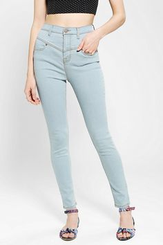 #UrbanOutfitters          #Women #Bottoms           #bdg #high-rise #pieced #measurements #seamed #overview #blueberry #5-pocket #movement #spandex #rise #waist #skinny #jean #denim #stretch #jeans #leg #zip #model #super #premium #high #size                  BDG High-Rise Seamed Jean - Blueberry               Overview: * 5-pocket super skinny stretch jeans from BDG with a pieced high waist * Tapered through the leg with a high rise * Added spandex for movement and stretch * In premium…