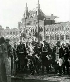 Nicholas II of Russia on Red Square. 1913