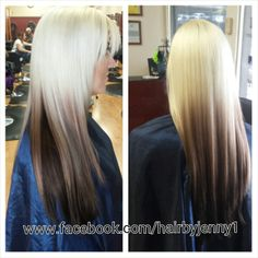 Reverse Ombre on blonde hair #blonde #ombre #color