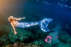 Mermaid Kariel wearing her Tail of Art in Hawaii. Get your own tail at  www.mermaidkariel.com