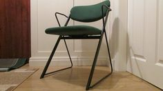 Ernest Race Vintage Chair in steel and hopsack cloth.  Ten available by MidCenturyQuirky on Etsy