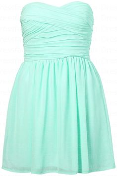 Bridesmaid dress/baby blue/knee-length/strapless  (H068) on Etsy, $59.00