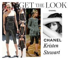 """""""Kristen Stewart Arriving at the Chanel Haute Couture Fall Winter 2017/18 Fashion Show In Paris,France July.4.2017"""" by valenlss ❤ liked on Polyvore featuring Chanel and La Femme"""