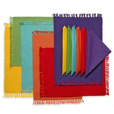 Mix Match Brights Placemats and Napkins - Six Napkins/Six Placemats - Bed Bath & Beyond