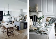 Hygge Dining Room Hygge The Coziest Lifestyle Trend You Need To Know About Pub Table Sets, Dining Room Sets, Dining Room Design, Dining Room Furniture, Dining Table, Stone Fireplace Mantel, Shabby Chic Dining Room, Wooden Tables, Wooden Chairs