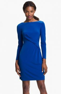 Pleat Front Jersey Sheath Dress. http://www.vudress.com/pleat-front-jersey-sheath-dress-p-1874.html