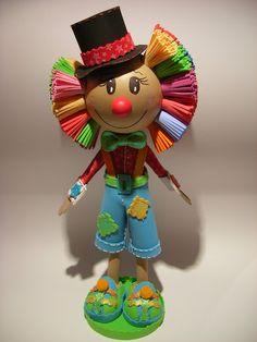 Bonecos 3D em EVA -  Fofucho Palhaço 102498630180302518149 - Álbuns Web Picasa