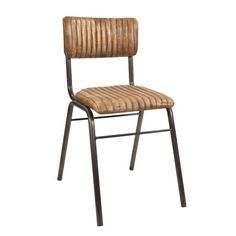 School side chair in leather | Andy Thornton